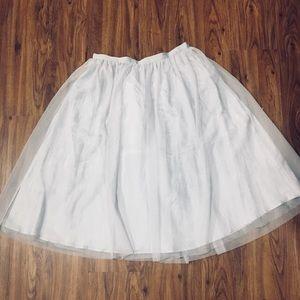 Midi tulle circle skirt